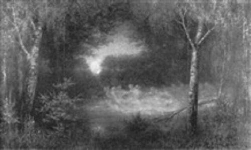 Wilhelm Lucas von Cranach. Nachtliche Szene mit Elfentanz, 1908. Oil on Canvas