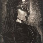 jacqueline de profil droit III, 1958