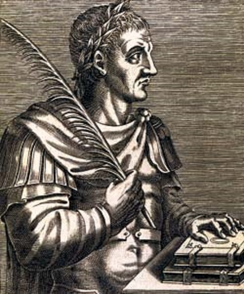 Emperor Justinian - the compiler of model code of laws. Engraving, XIX century