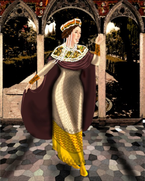 Crowned courtesan saint Theodora