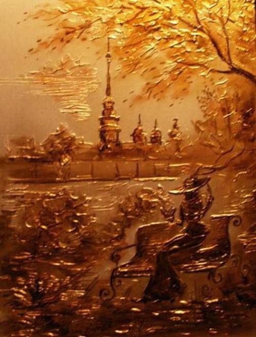 St. Petersburg, artist Igor Grishin. Mixed technique. Canvas