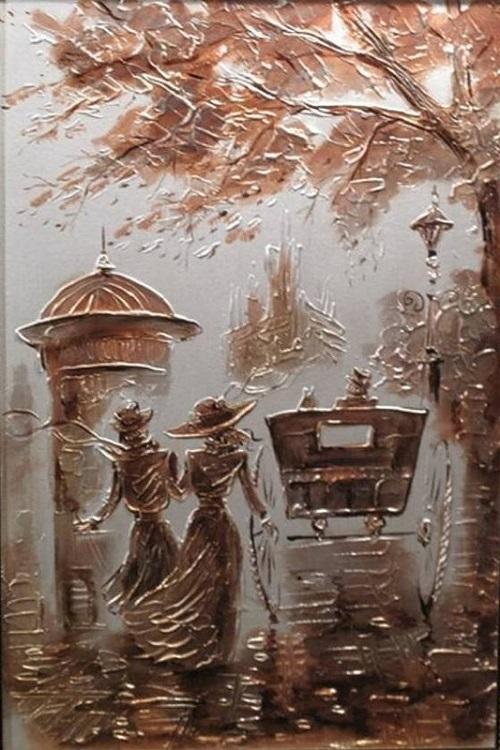 Walk. Artist Igor Grishin, 2011. Mixed technique. Canvas