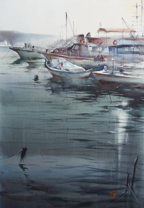 Russian watercolorist Ilya Ibryaev