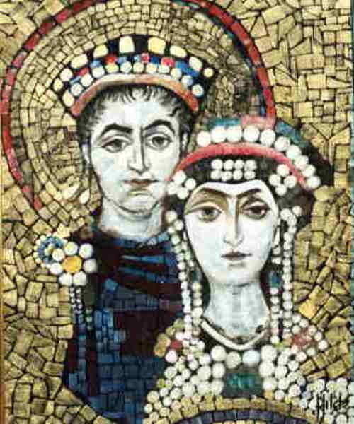 Crowned courtesan saint Theodora