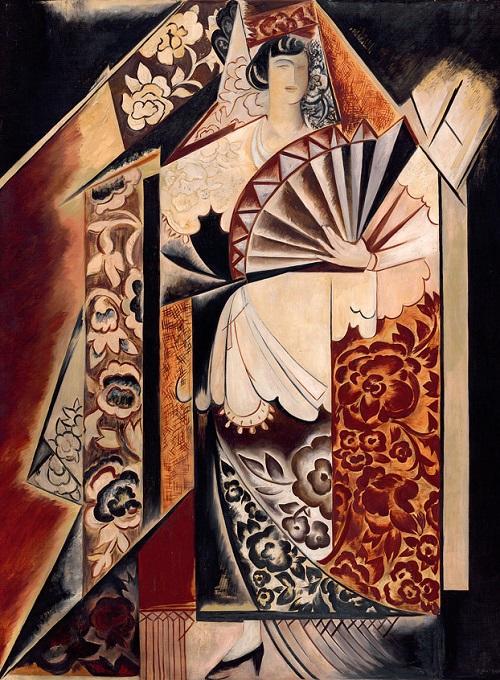 Ideal of femininity in painting by Felix Mas
