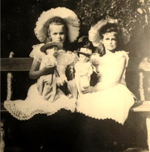 Russian Royal Children's toys. The Grand Duchesses Maria and Olga with their dolls