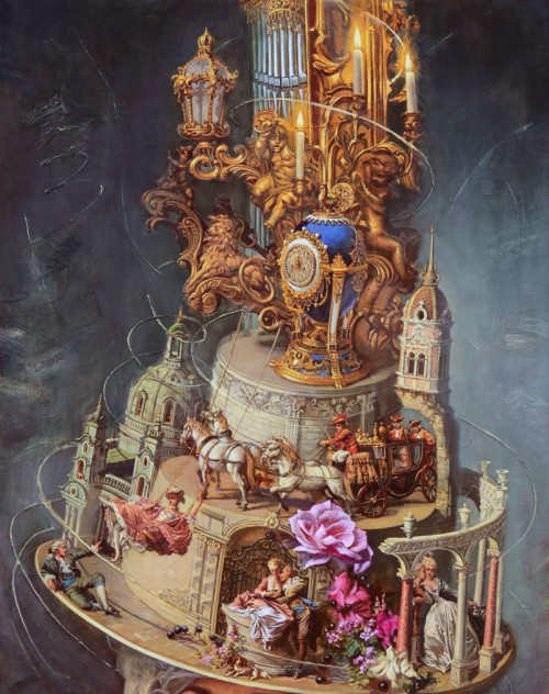 Baroque, 2013. Oil on canvas. Painting by artist Oleg Turkin (the image can be enlarged)