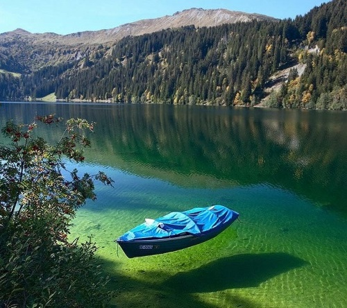 Lake Konigssee, the cleanest natural lake in Germany