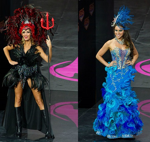 Miss Universe 2013 national costumes. Miss Belgium. Miss Australia