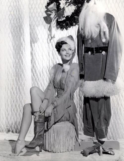 Ava Gardner. Christmas with vintage actresses