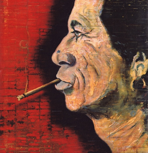Painting by artist Johnny Depp. Keith Richards