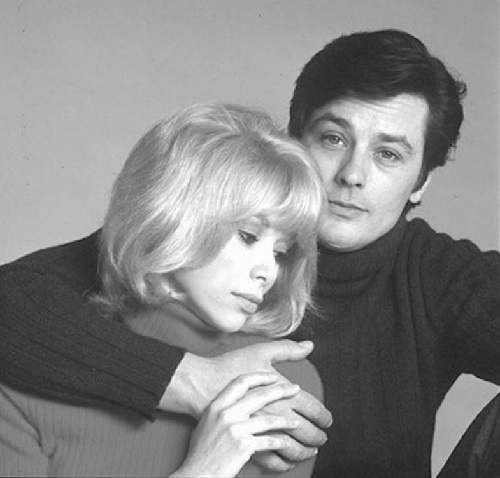 Mireille Darс and Alain Delon, 1970's. Photo by Georges Dambier