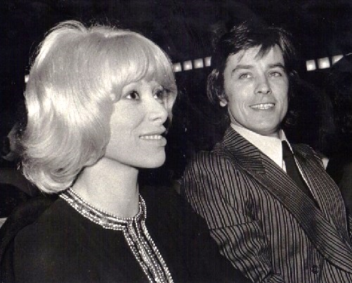Alain Delon with Mireille Darс, 1969