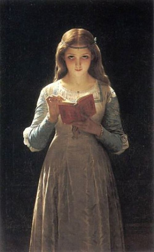 Date a girl who reads. Ophelia, 1870. Pierre Auguste Cot (1837 – 1883), French painter