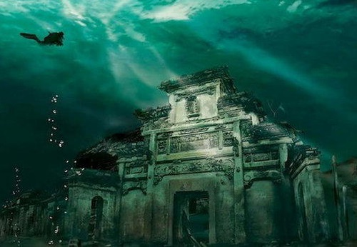Chinese Atlantis – underwater Lion City Shi Cheng