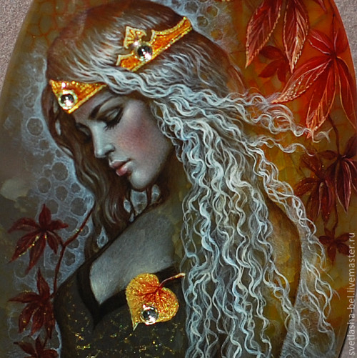 The Queen of Autumn. Miniature painting artist Svetlana Belovodova