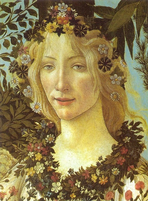 Flora, the goddess of flowers and spring, painting by Italian Renaissance artist Sandro Botticelli