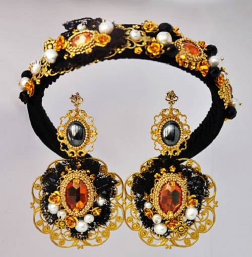 dolce normal drop jewelry lyst product gabbana multi orange in and earrings