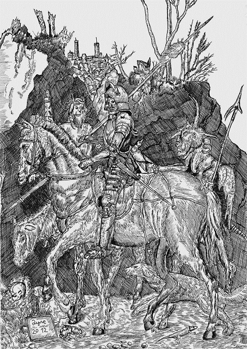 Detailed drawings by Serbian graphic artist Dusan Krtolica (11 y/o)