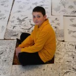 Detailed drawings by Serbian graphic artist Dusan Krtolica (10 years old)