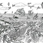 Detailed drawings by Serbian graphic artist Dusan Krtolica