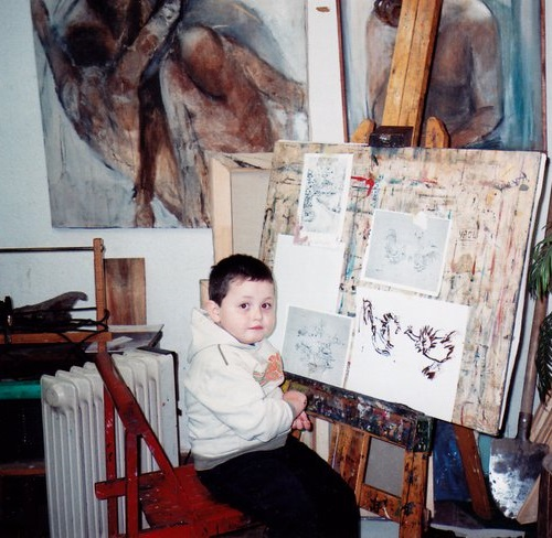 4-year-old Serbian child prodigy artist Dusan Krtolica