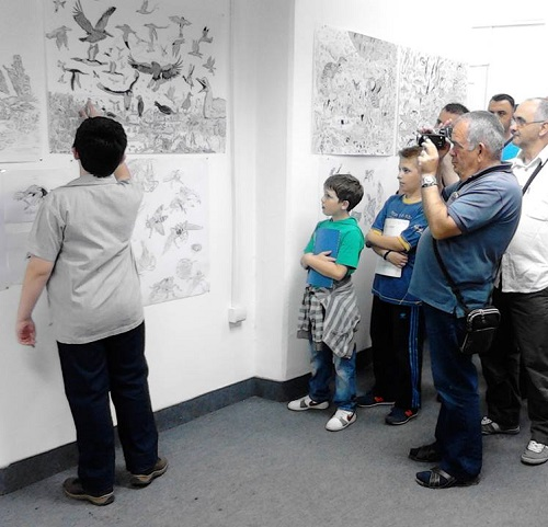 Exhibition of a talented young Belgrade boy in Surdulica