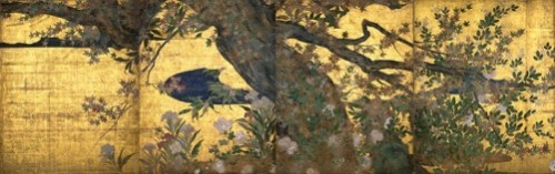 Autumn Flower under Pine Trees. Hasegawa Tohaku, about 1592. National Treasure of Japan