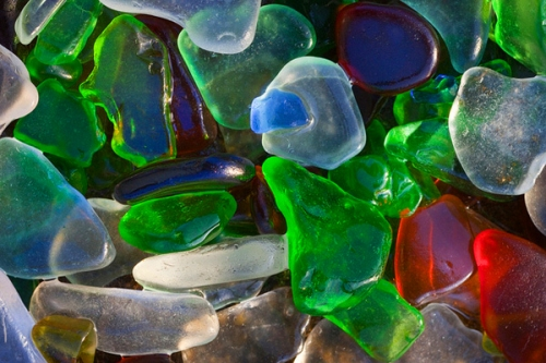 Beautiful Glass Beach in Fort Bragg, California