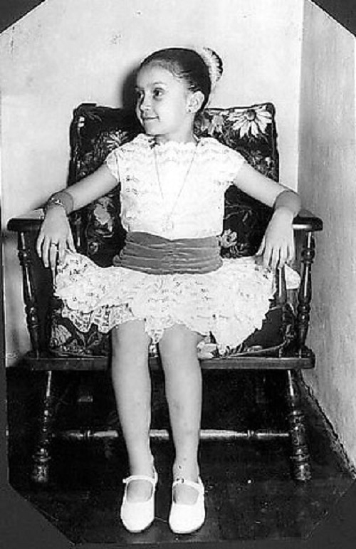 Cristina as a child