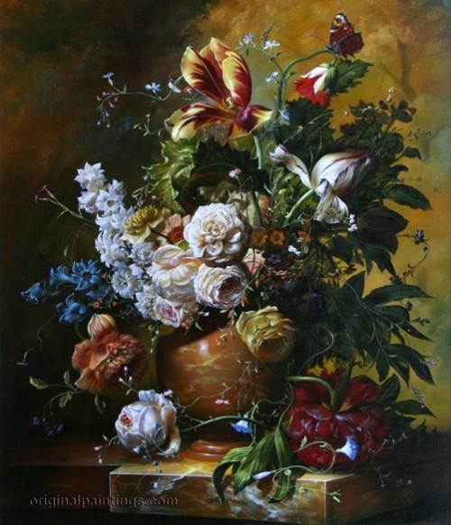 Floral Abandon by Hungarian painter Gyula Siska