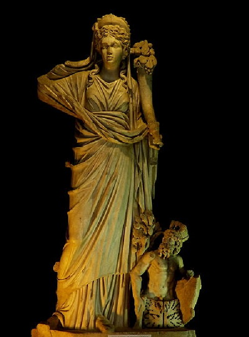 Diosa romana de la suerte Fortuna, con los ojos vendados Diosa de la Suerte Constanza Museo