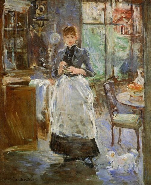 French impressionist painter berthe morisot beauty will save for Dining room art paintings