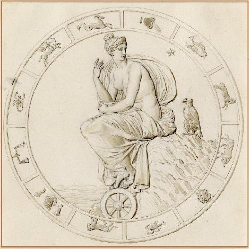 Louis Lafitte 1812-1813.  Napoleón en Elba, diseño para una medalla de Napoleón