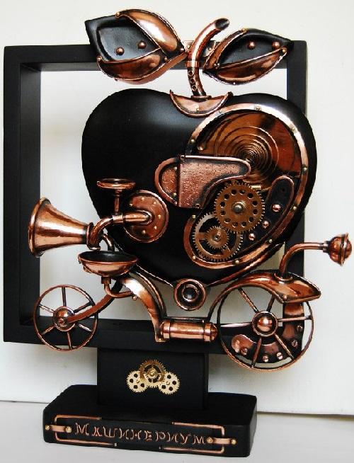 Machine fantasy. copper, brass gears. Steampunk sculpture by Alisa Didkovskaya-Petrosyuk