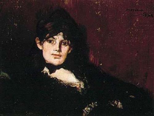 Portrait of Berthe Morisot (1882), Manet