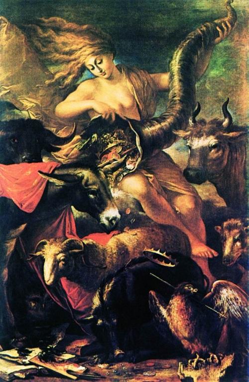 Salvator Rosa, Fortuna, pintura mitológica, óleo sobre lienzo, Alrededor de 1658-1659, The Getty Center, Los Ángeles