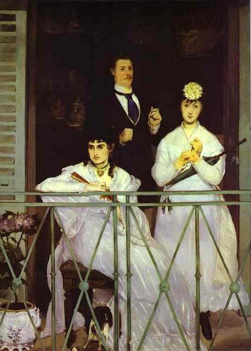 The Balcony, 1868 oil painting by the French painter Edouard Manet