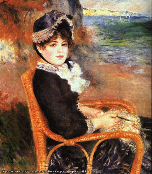 At the seaside. Ideal of beauty for Renoir