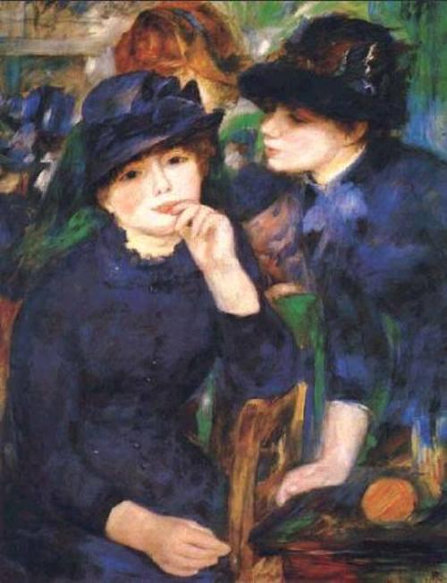 Girls in Black. Ideal of beauty for Renoir