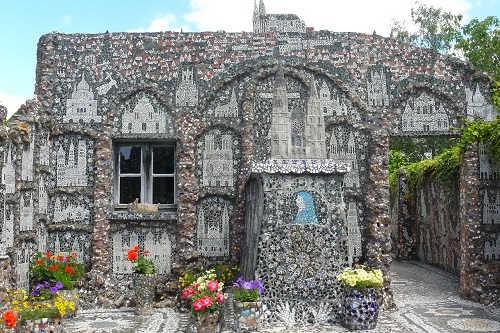 Mosaic Picassiette House by Raymond Isidore. Chartres, France