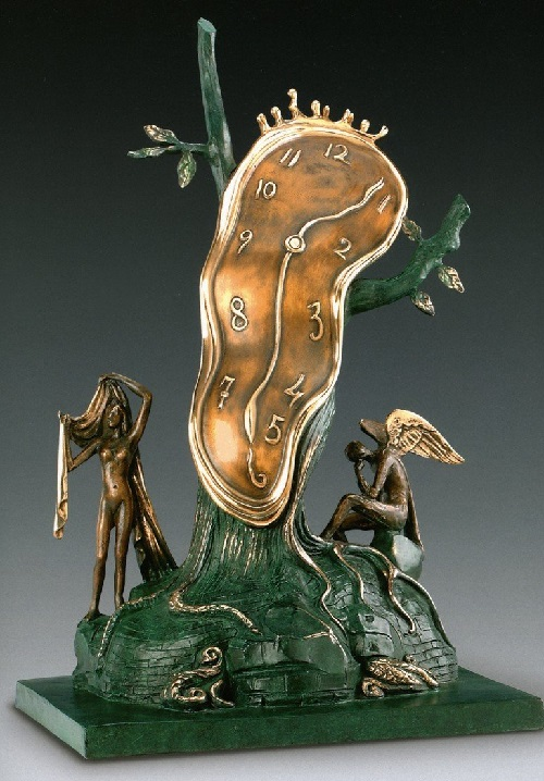 The Greatness of Time. Salvador Dali bronze sculpture