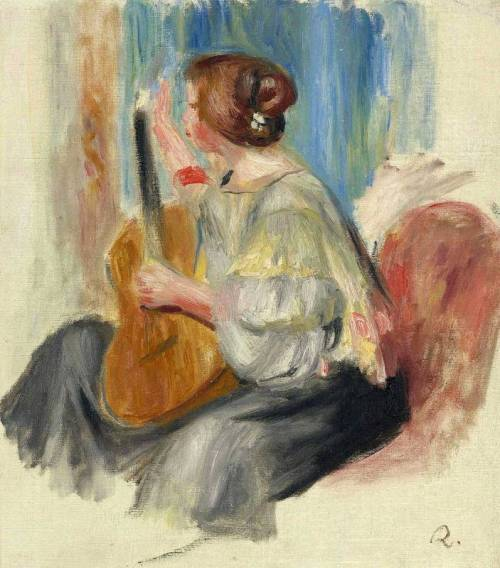 Woman with a guitar, Ideal of beauty for Renoir