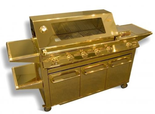 Most unusual gold products. Gas barbecue grill SL Gold by Australian company
