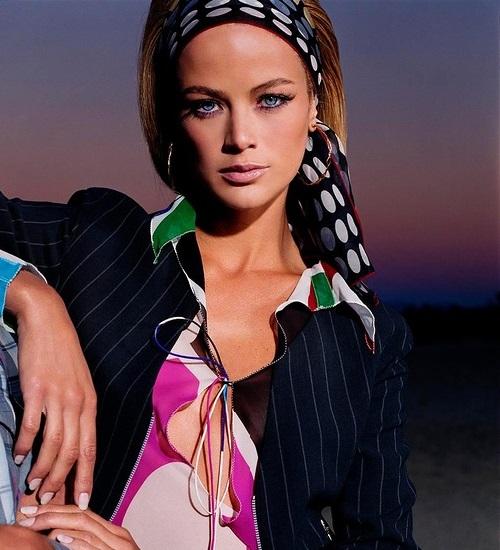 American top model Carolyn Murphy by photographer Steven Meisel