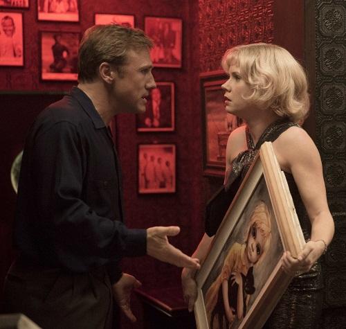 Margaret Keane (played by Amy Adams) and Walter Keane (actor Christoph Waltz) in 2014 'Big Eyes' by Tim Burton