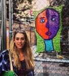 Beautiful street artist London Kaye
