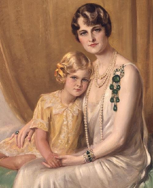 Beauty collector Marjorie Merriweather Post with her daughter