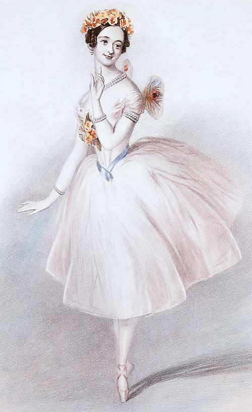 Marie Taglioni in the role of La Sylphide. 1832