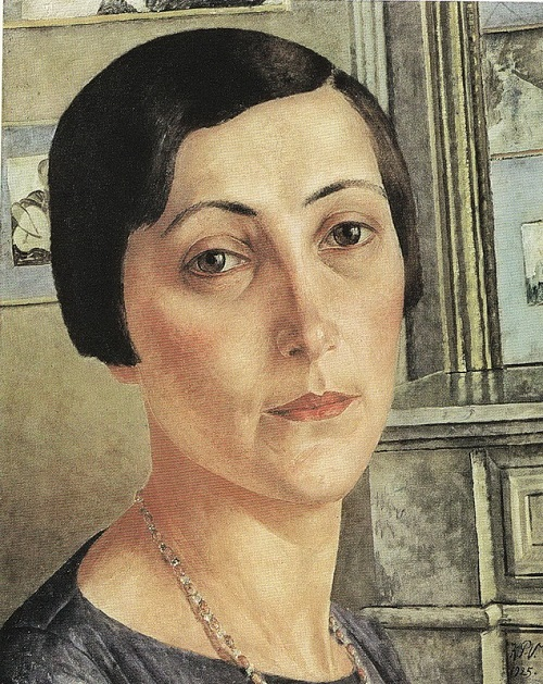 Silver Age last muse Salomea Andronikova by Petrov-Vodkin (1925)